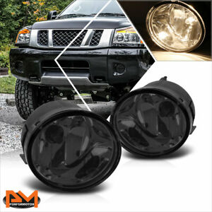 For 05 07 Nissan Armada 05 15 Titan Smoked Lens Front Bumper Driving Fog Lights