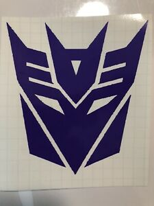 Decepticon Emblem Car Truck Decal 6x5 Transformers