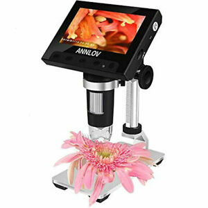 Lcd Digital Microscope 4 3 Inch Usb 500x 1000x Magnification Coin Camera 8 Led