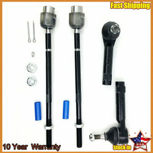 Inner Outer Tie Rod End Steering Kit For Chevy Impala Buick Lacrosse Allure