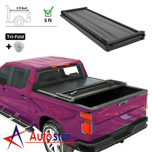 For 2016 2019 Toyota Tacoma 5ft 60 Short Bed Soft Lock Tri fold Tonneau Cover