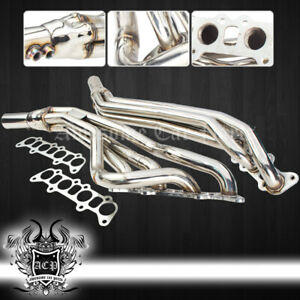 Stainless Exhaust Manifold Long Tube Header For 2011 2016 Mustang Gt Coyote 5 0