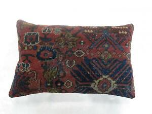 Persian Red And Blue Bolster Pillow