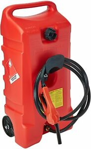 Scepter Duramax 14 Gallon Wheeled Fuel Container With Flo N Go Fuel Handle