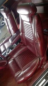 Buick Reatta Oem Leather Seat Set Left Right Garnet Red Leather