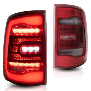 Customized Red Clear Full Led Tail Lights For 10 18 Dodge Ram 1500 Ram 2500 3500