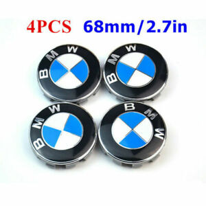 4pcs 68mm Wheel Center Hub Caps Logo Badge Emble For Bmw 1 3 5 7 Series X1x3x5x6