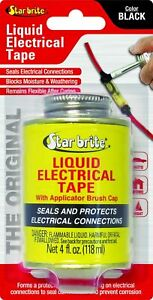 Star Brite Liquid Electrical Tape 4 Oz Can With Applicator Brush Cap