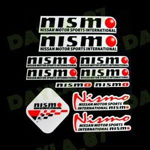 Nismo Reflective Car Door Window Vinyl Decal Sticker For Nissan 11pcs Set
