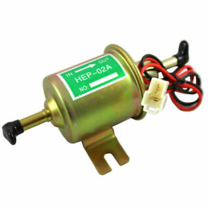 12v Universal Gas Diesel Electric Fuel Pump Inline Low Pressure Fit For Hep 02a