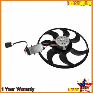 Engine Radiator Cooling Fan Assembly For Audi Q7 Porsche Cayenne Vw Touareg
