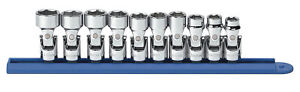 10 Pc 3 8 Drive 6 Point Metric Flex Socket Set Kdt 80565