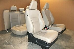 2013 2015 Honda Accord Exl Front And Rear Seats Set Baige Leather Assy Oem