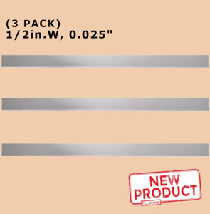 3 Pack Stainless Steel Sheet Metal Strips 1 2 Inch Wide X 12 Long X 025 Thick