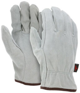 Mens Mcr Safety 3120 All Split Leather Unlined Drivers Work Gloves Size Medium