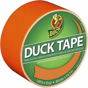 Duck Brand 1265019 Color Duct Tape Neon Orange 1 88 Inches X 15 Yards Single
