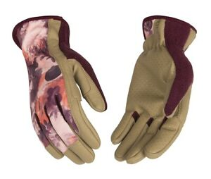 New Womens Kincopro Synthetic Leather Work Gloves Unlined Size S M