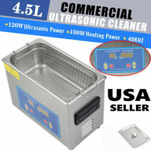 4 5l Liter Ultrasonic Cleaner Cleaning Equipment Industry Heated W Timer Heater
