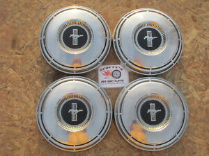 1968 Ford Mustang Poverty Dog Dish Hubcaps Set Of 4