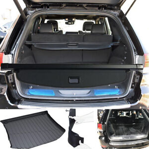 Rear Trunk Cargo Cover Cargo Liner Floor Mats For 2011 2021 Jeep Grand Cherokee