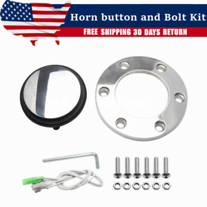 Horn Button And Bolt Kit Set For Grant Classic Style Wood Grain Steering Wheel
