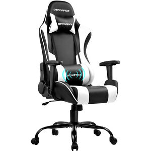 Gtracing Gaming Chair Massage Office Computer Chair Reclining Adjustable Chair