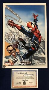 Amazing Spider Man #1 Humberto Ramos Litho Signed by Stan Lee with COA MARVEL $279.95