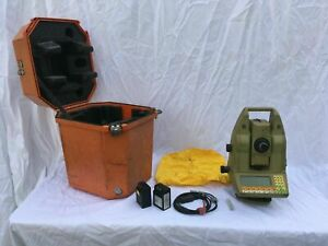 Leica Tca1100 Total Station With Case Batteries dead Cable