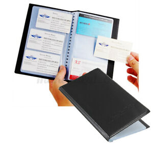 Business Name Id Credit Card Holder 120 Slots Leatherette Storage Organizer Book