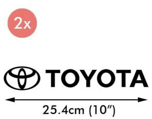 2x Toyota Logo 10 Vinyl Decal Sticker Emblem Side Stickers Car Truck Window
