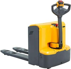Electric Powered Walkie Pallet Jack 4400lbs Capacity 48 x27 Fork Size