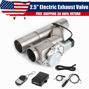 2 5 Electric Exhaust Dual Valve Cut Out Downpipe Y Pipe Wireless Remote Kit
