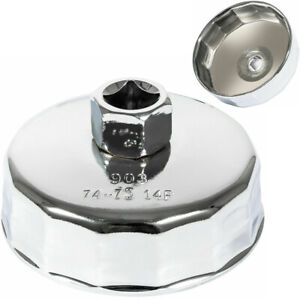 Stainless Steel 74mm Oil Filter Wrench Cap Tool For Mercedes Benz Vw Audi Mazda
