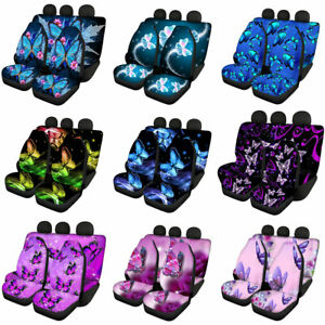 Butterfly Car Seat Covers For Women Full Set Car Seat Protector Auto Interior