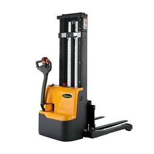 Apollolift Electric Power Drive And Lift Straddle Stacker 2640lbs Cap 98 118