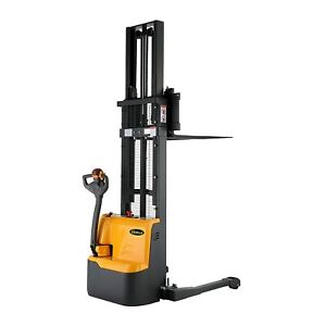 Apollolift Electric Powered Drive And Lift Straddle Stacker 2200lbs Cap 98 118