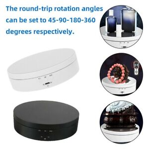 360 Rotating Turntable Electric Jewelry Watch Display Stand Box Art Holder