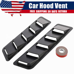 2pcs Universal Car Hood Vent Scoop Cover Air Flow Intake For Ford Toyota Honda Fits 1995 Mustang