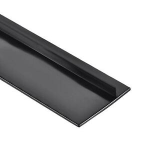 Trim Seal Silicone T seal Channel Edge Protector Sheet 535mm Black 2pcs