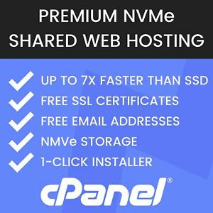 1 Year Unlimited Fast Nvme Web Hosting Cpanel Free Ssl Free Email Backups