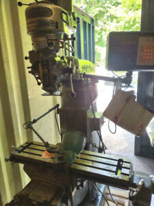 Used Bridgeport Milling Machine Power Feed Digital Read Out Cise Collets Drill