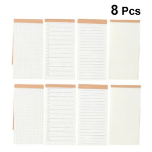 8pcs Small Plan Book Useful Convenient Memo Pad Portable Notepad For School