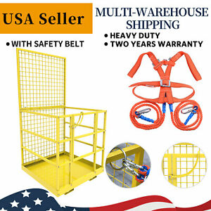 Forklift Cage Work Platform Safety Cage Steel Construction Lift Basket 45x43inch