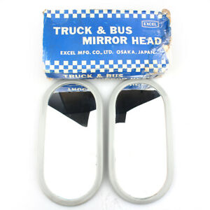 Vintage Truck And Bus Mirror Head Mirror Side Pair Nos 8036