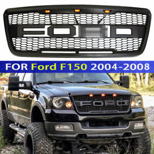 Front Grille For Ford 2004 2005 2006 2007 2008 F150 Raptor Style Grill W Led