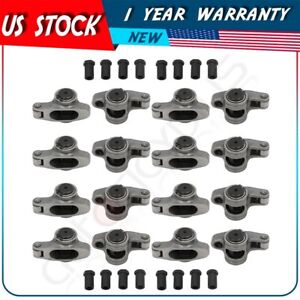 Stainless Roller Rocker Arm 1 6 Ratio 3 8 For Small Block Chevy Sbc 327 350 400