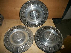 Ford Mustang Hubcaps 14 Inch 1970 Hub Caps Wheel Covers 3 Total Vintage