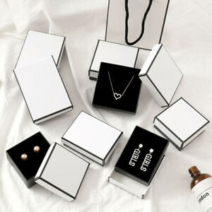 White Jewelry Gift Box For Ring Necklace Bracelet Earring Watch Small Present Lw