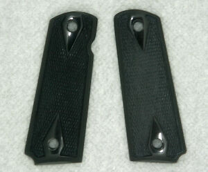 Colt 1911 Full size Grips Genuine Solid Buffalo Horn checkered ambidextrous cut $33.98