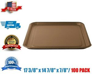 Paper Food Tray Eco 17 3 8 X 14 7 8 X 7 8 100 case Disposable Kraft